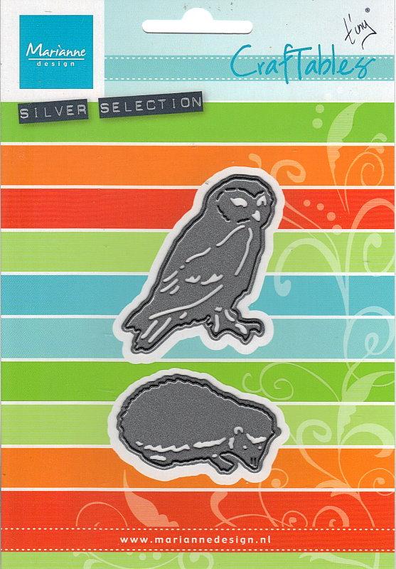 CR1339 Stanzschablone Eule /& Igel  von Marianne Design Tiny´s animals