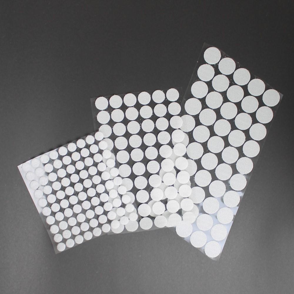 50 Paar Klettpunkte Klettband Klebepunkte Selbstklebend Rund Schwarz Ø 20mm